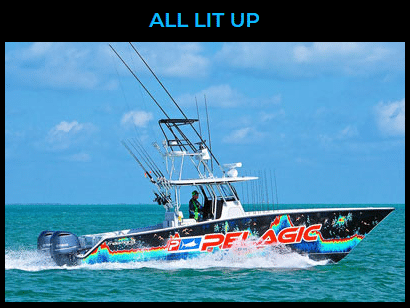 All Lit Up Fishing Charter Boat - Islamorada, Florida Keys
